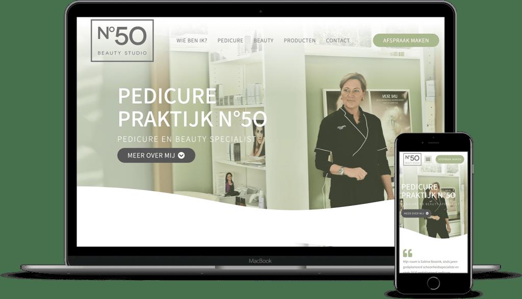 website Pedicure Praktijk N°50 - Beauty Studio